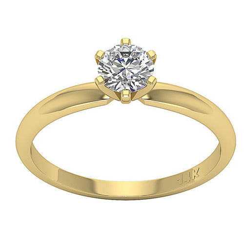 Solitaire Anniversary White Gold Ring-DSR87-SR-23A