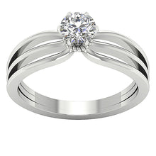 Load image into Gallery viewer, Solitaire Anniversary White Gold Ring-SR-1058-1