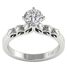 Load image into Gallery viewer, 14K Yellow Gold Solitaire Natural Diamond Designer Anniversary Ring I1 G 1.10 Ct 4 Prong Set 7.80MM