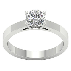 Solitaire Engagement Ring Earthmined Diamond Ring-SR-664-0.80-1