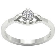 Load image into Gallery viewer, 4 Prong Solitaire Engagement 14k White Gold Ring-SR-752-1