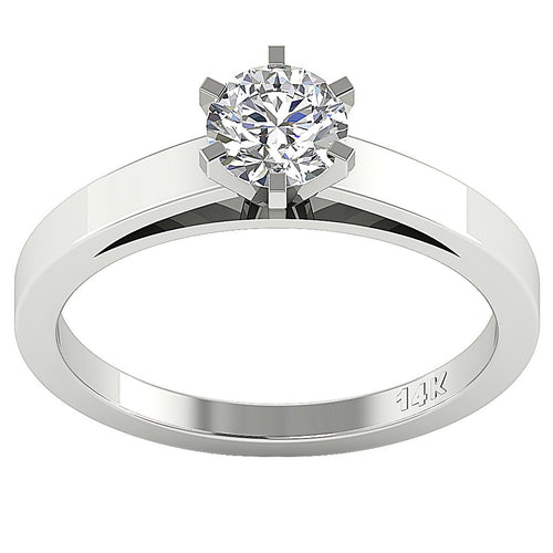 Solitaire Anniversary Ring Natural Diamond-SR-762A-0.50
