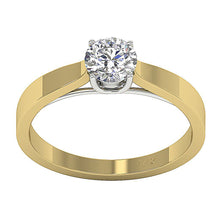 Load image into Gallery viewer, Vintage Solitaire Anniversary Yellow Gold Ring-SR-10A-1-