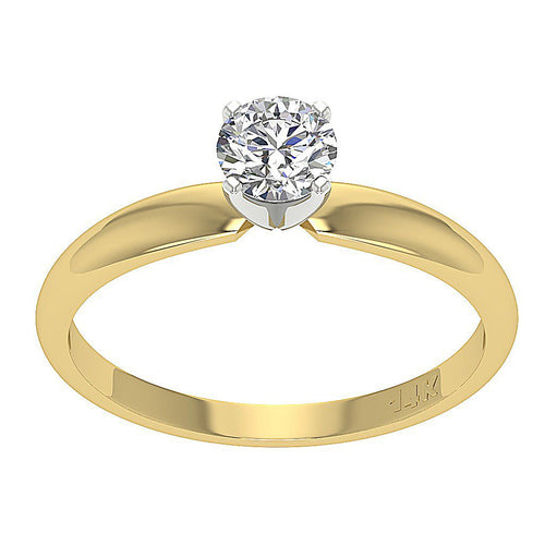 Solitaire Anniversary Yellow Gold Ring-SR-180