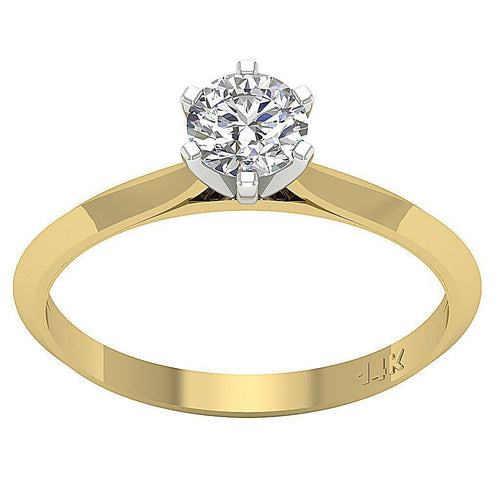 Solitaire Anniversary 14k Solid Gold Ring-SR-740-1