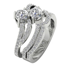 Load image into Gallery viewer, Designer Solitaire Ring White Gold-DCR128