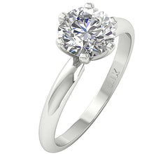 Load image into Gallery viewer, 14k Solid White Gold Solitaire Engagement Ring-DSR-1.80-2