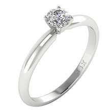 Load image into Gallery viewer, Vintage Side View Solitaire Ring White Gold-DSR26-0.50-3