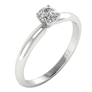 Vintage Side View Solitaire Ring White Gold-DSR26-0.50-3