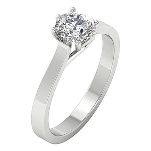 Solitaire Anniversary Ring White Gold Side View-SR-1105-1