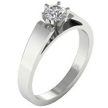 Load image into Gallery viewer, Vintage Solitaire Engagement Ring White Gold-SR 766-0.80-1
