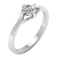 Load image into Gallery viewer, Vintage Solitaire Ring 14k Solid White Gold-SR-752-2