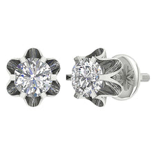 Load image into Gallery viewer, Cross And Front View Stud Earrings-DE191