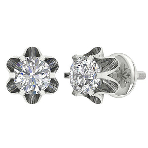 Cross And Front View Stud Earrings-DE191