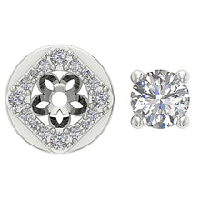 Load image into Gallery viewer, 14k-18k White Gold Designer Studs Earring-DE170