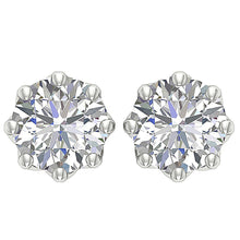 Load image into Gallery viewer, Front View White Gold Earrings-DST102