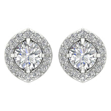 Load image into Gallery viewer, Prong Set Studs White Gold Earring-E-782-5