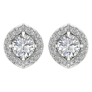 Prong Set Studs White Gold Earring-E-782-5