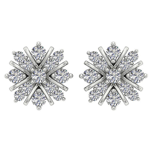Flower Designer Diamonds Earrings-DE198