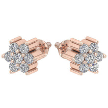 Load image into Gallery viewer, Designer Studs Earrings Natural Diamond I1 G 0.25Ct 14k/18k White Yellow Rose Gold