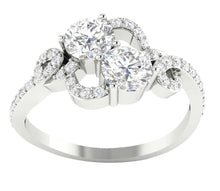Load image into Gallery viewer, Forever Us Two-Stone Designer Solitaire Ring SI1 G 1.35 Ct Natural Diamond