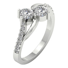 Load image into Gallery viewer, SI1 G 1.10 Ct Forever Us Two Stone Designer Solitaire Wedding Ring Natural Diamond