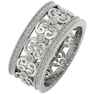 Designer Wedding Eternity Ring I1 G 1.00 ct 14k Yellow Gold Natural Diamond Prong Bezel Set