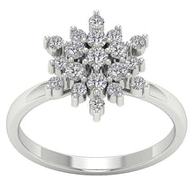 Load image into Gallery viewer, 14k White Gold Prong Set Natural Diamond SI1 G 0.85 Ct Right Hand Vintage Designer Ring 13.80MM