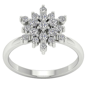 Designer Right Hand White Gold Ring-DRHR6-3