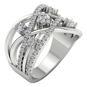 Designer Right Hnd Ring 14k White Gold-DRHR5-2