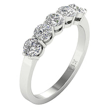 Load image into Gallery viewer, Cross View White Gold Ring-FR-67