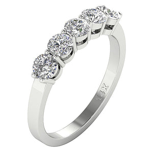Cross View White Gold Ring-FR-67