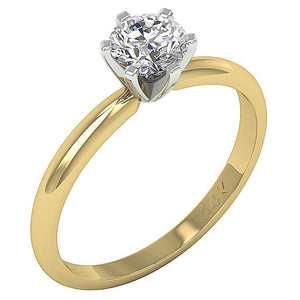 Solitaire Wedding Ring 14k Gold Side View-DSR155-SR-23C-2