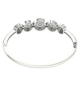 Double Halo Back Side View Bangles-DBR41