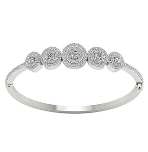 Top View Lenght 2.40 Inch Diamonds Bangles
