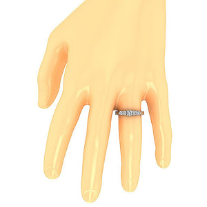 Diamond Engagement Ring on Finger-DFR40