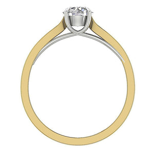 Genuine Diamond Ring Front View 14K Gold-SR-10A-3