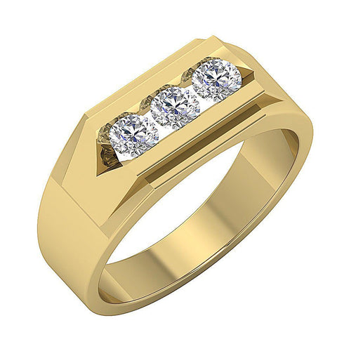 VS1 E 0.50Ct 14k Solid Gold Mens Wedding Ring Natural Diamonds Channel Set Width 6.90MM