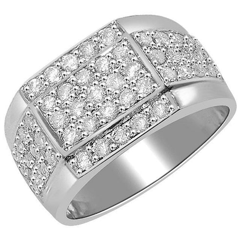 Round Diamond Ring White Gold-MR-15