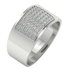 Load image into Gallery viewer, 14k Solid Gold Mens Anniversary Ring VVS1/VS1 E 1.00Ct Natural Diamonds Pave Set Width 12.85MM