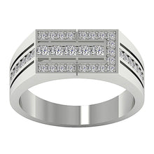 Load image into Gallery viewer, Mens Wedding Ring VVS1/VS1 E 0.70Ct 14k Solid Gold Natural Diamonds Channel Set Width 8.00MM