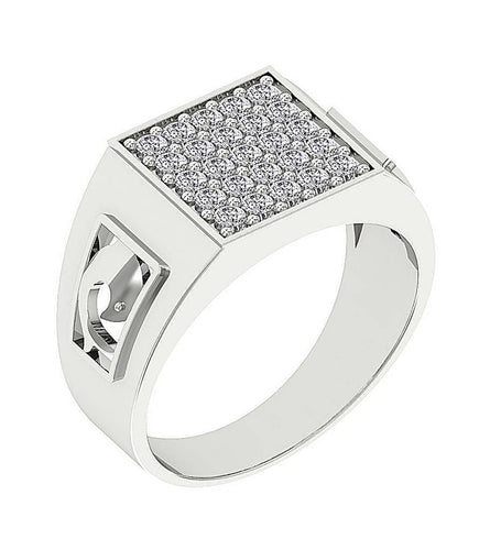 Prong Setting White Gold Ring-MR-27