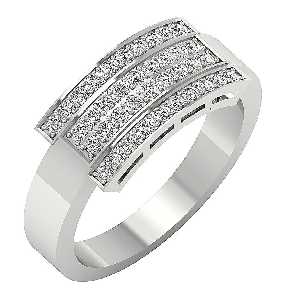 Round Diamond Ring White Gold-MR-43