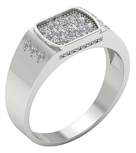 Round Diamond Ring White Gold-MR-82