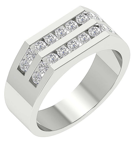 14k White Gold Diamond Ring-MR-98