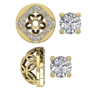 Studs Earring Diamond Solitaire Yellow Gold-DE170
