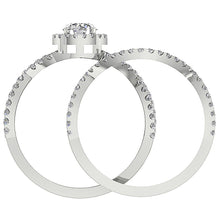 Load image into Gallery viewer, Round Diamond 14k White Gold Ring Front View-DCR133