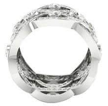 Load image into Gallery viewer, Front View 14k White Gold Ring-DETR203