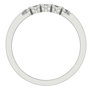 Diamond White Gold Ring Front View-DFR29