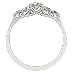 Front View Diamond White Gold Ring-DFR40